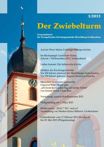 Ausgabe 1-2013 - Evangelische Kirchengemeinde Hirschberg ...