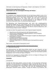 Text der Informationsvorlage Arbeitsstand ... - Dessau-Roßlau