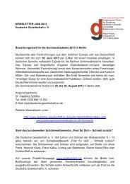 Juni 2013 - Deutsche Gesellschaft eV