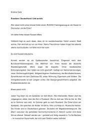 Russland. Deutschland. Und zurück - Deutsche Gesellschaft eV