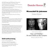 Wissenschaft für jedermann - Deutsches Museum
