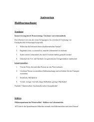 Antworten Haltbarmachung - Deutsches Museum