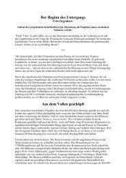 Der Beginn des Untergangs - Das Deutschland Journal