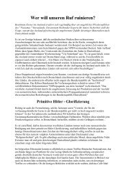 Wer will unseren Ruf ruinieren - Das Deutschland Journal