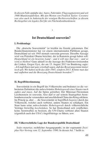 Ist Deutschland souverän? - Das Deutschland Journal