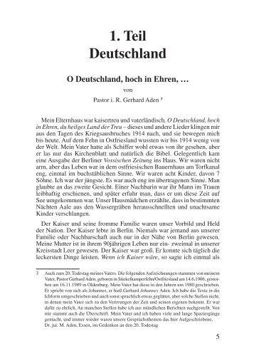 O Deutschland, hoch in Ehren - Das Deutschland Journal