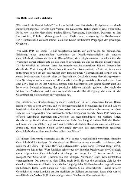 Das neue deutsche Geschichtsbild von Hellmut Diwald