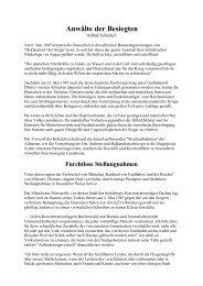 Dr. Alfred Schickel: Anwälte der Besiegten - Das Deutschland Journal