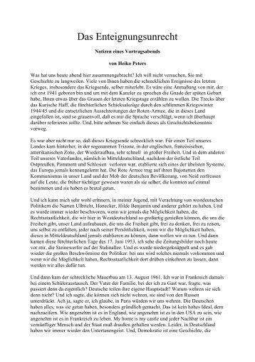 Heiko Peters: Das Enteignungsunrecht - Das Deutschland Journal