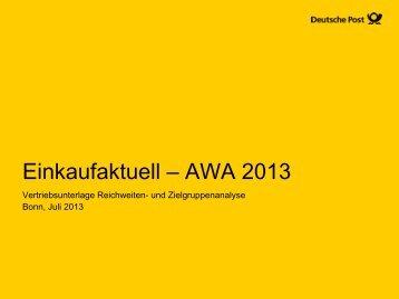 Einkaufaktuell – AWA 2013 - Deutsche Post