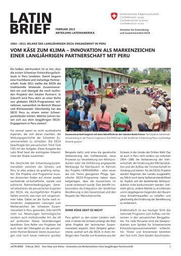 LATIN BRIEF Februar 2013 - DEZA - admin.ch