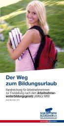 Der Weg zum Bildungsurlaub - DGB-Bildungswerk NRW e.V.