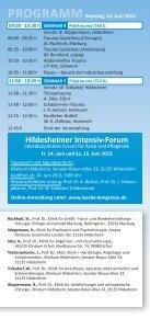 Hildesheimer Intensiv-Forum - DGAV - Page 4