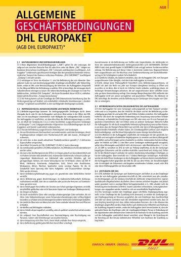 AGB DHL Europaket