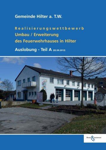Gemeinde Hilter a. TW Umbau / Erweiterung des Feuerwehrhauses ...