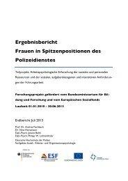 2013 09 04 FISP Ergebnisbericht - Deutsche Hochschule der Polizei
