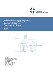 Fortbildungsprogramm - Deutsche Hochschule der Polizei