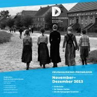 November– Dezember 2013 - Deutsches Historisches Museum