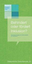 Behindert oder fördert Inklusion? - Diakonie Rheinland-Westfalen ...