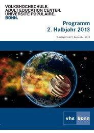 Herbstprogramm 2013 - Deutsches Institut für Erwachsenenbildung