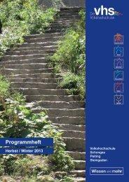 VHS Schongau - Deutsches Institut für Erwachsenenbildung