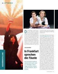 In Frankfurt sprechen die Fäuste - Die Deutsche Bühne