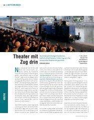 Theater mit Zug drin - Die Deutsche Bühne