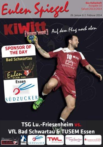 Friesenheim vs. VfL Bad Schwartau & TUSEM Essen - TSG ...