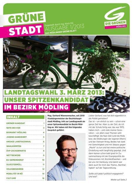 GRÜNE Stadt 2013/1 - Die Grünen Mödling