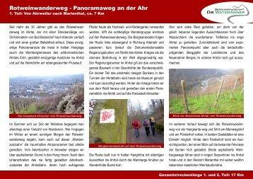 Rotweinwanderweg von Ahrweiler nach Mayschoß - Die ...