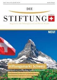 Stiftungsmarkt Schweiz - Die Stiftung