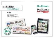 Mediadaten Print & Digital - Die Harke