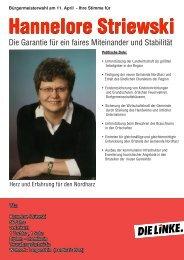 Hannelore Striewski Hannelore Striewski - DIE LINKE. Harz