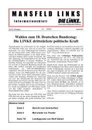 Oktober 2013 - DIE LINKE. Kreisverband Mansfeld-Südharz