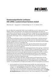 Kommunalpolitische Leitlinien - DIE LINKE Sachsen-Anhalt
