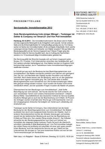 Gute Beratungsleistung trotz einiger Mängel - Deutsches Institut für ...