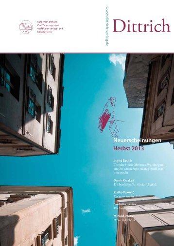 Dittrich_Herbsts_2013 (.pdf, 1,2 MB) - Dittrich Verlag
