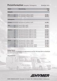 Preisinformation Kompakte, Teilintegrierte Modelljahr 2013