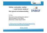 Betriebliche Gesundheitspolitik stärken - Deutsches Netzwerk für ...