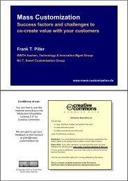 costs of mass customization