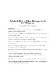 Building Stability in Africa: Challenges for the New Millennium