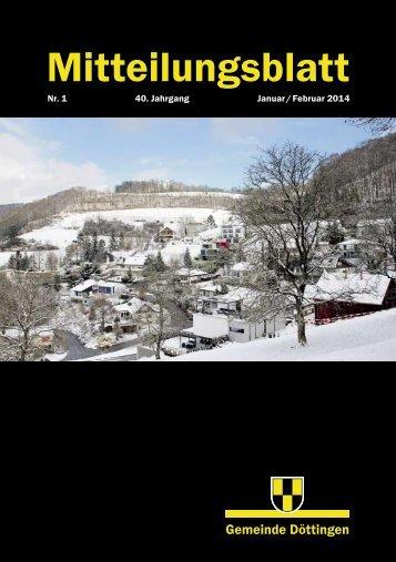Mitteilungsblatt Nr. 1/2014 - Gemeinde Döttingen