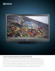 Dolby Professional Reference Monitor PRM-4220 Technical Brochure
