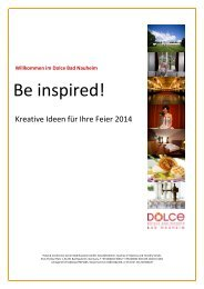 Feiermappe 2014 - Dolce Bad Nauheim