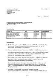 1. Der Errichtung einer weiteren Gebäudezeile in der ... - Stuttgart