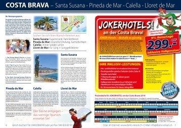 COSTA BRAVA – Santa Susana - Pineda de Mar ... - Domo Reisen