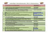 lebendigen Adventskalender von Blankenburg 2013 - Dorfanger ...