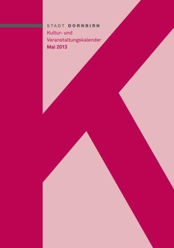 Kultur- und Veranstaltungskalender Mai 2013