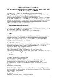 Ordnungsbehördliche Verordnung [pdf, 39 kB] - Stadt Dortmund