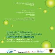 Programm Fachveranstaltung Innendämmung [pdf ... - Stadt Dortmund